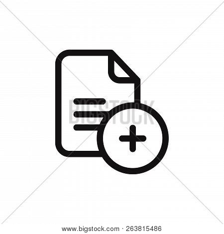 Add File Icon Isolated On White Background. Add File Icon In Trendy Design Style. Add File Vector Ic