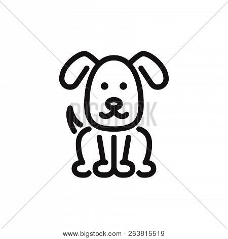 Dog Icon Isolated On White Background. Dog Icon In Trendy Design Style. Dog Vector Icon Modern And S