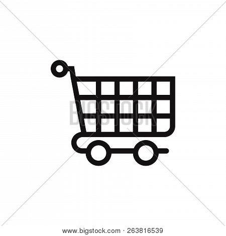 Shopping Cart Icon Isolated On White Background. Shopping Cart Icon In Trendy Design Style. Shopping