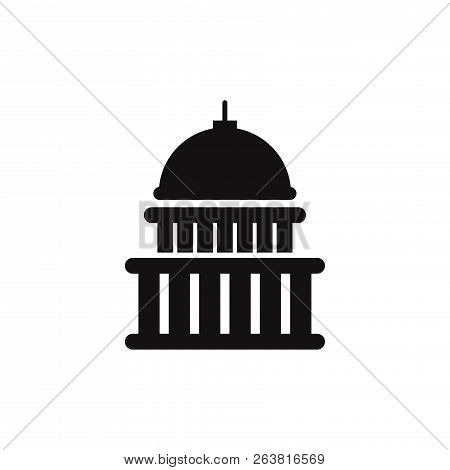 Capitol Building Icon Isolated On White Background. Capitol Building Icon In Trendy Design Style. Ca