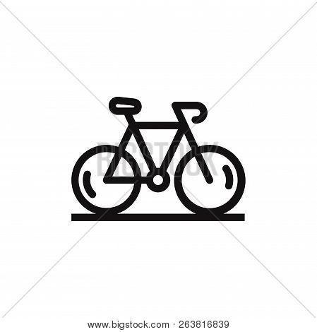 Bicycle Icon Isolated On White Background. Bicycle Icon In Trendy Design Style. Bicycle Vector Icon
