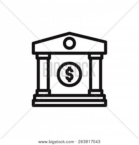 Bank Icon Isolated On White Background. Bank Icon In Trendy Design Style. Bank Vector Icon Modern An