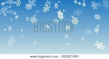 Snow Flakes Falling Macro Vector Design, Christmas Snowflakes Confetti Falling Scatter Backdrop. Win