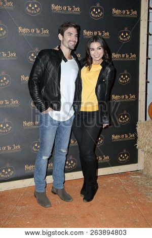 LOS ANGELES - OCT 10:  Jared Haibon, Ashley Iaconetti at the Nights Of The Jack Halloween Activation Launch Party at the King Gillette Ranch on October 10, 2018 in Calabasas, CA