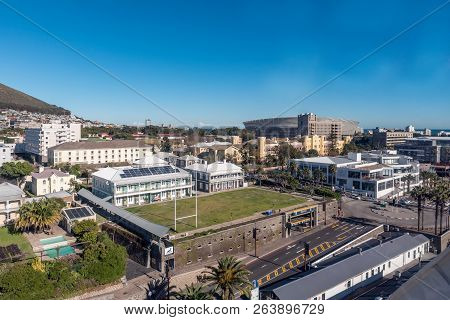 Cape Town, South Africa, August 9, 2018: The View From The Cape Wheel At The Victoria And Alfred Wat