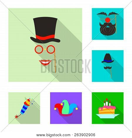 Isolated Object Of Party And Birthday Symbol. Set Of Party And Celebration Stock Vector Illustration