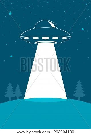Simple Graphic Of Unidentified Flying Object, Ufo