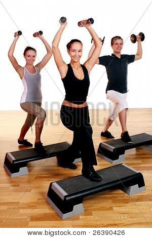 people group  doing fitness exercise
