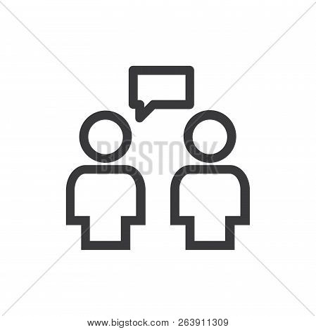 Conversation Vector Icon On White Background. Conversation Icon In Modern Design Style. Conversation