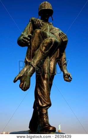 Holocaust Memorial: Liberation Monument Soldier