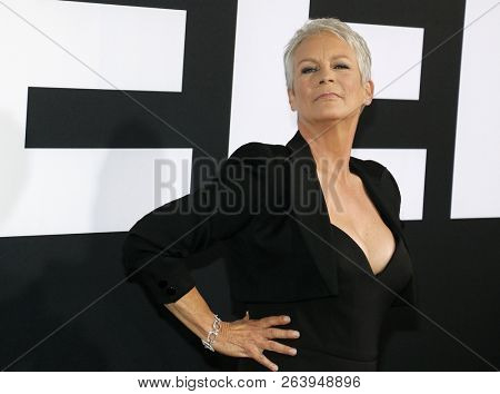 Jamie Lee Curtis at the Los Angeles premiere of 'Halloween' held at the TCL Chinese Theatre in Hollywood, USA on October 17, 2018.