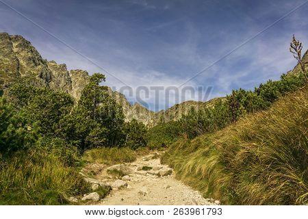 A Beautiful Landscape Of Mengusovska Dolina. High Tatra Mountains. Slovakia.