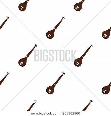 Traditional Indian Sarod Pattern Seamless For Any Design Illustration