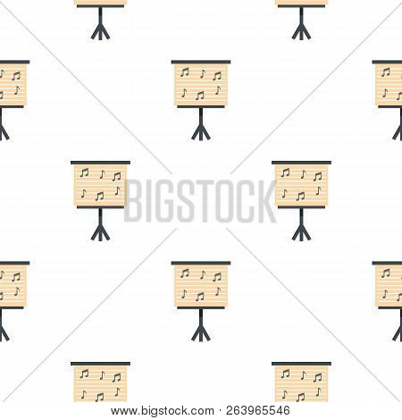 Music Stand With Piano Notes Pattern Seamless For Any Design Illustration