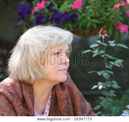 Middle Age Blonde Woman