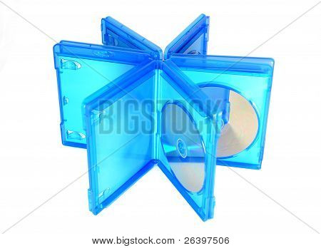 Blu Ray Disc Cases Open