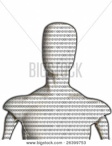 Blank Binary Man