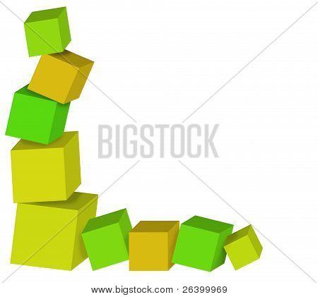 toppling 3d cubes