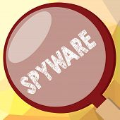 Writing note showing Spyware. Business photo showcasing Software that enables user obtain information about other computer poster