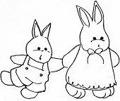 Bunny Rabbit with Momma Family Cute Easter Child poster
