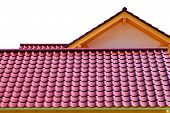 tiles roof background poster
