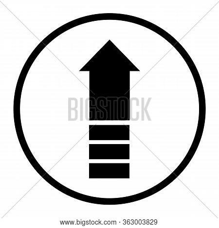 Upgrade Icon On White Background. Flat Style. Upgrade Icon For Your Web Site Design, Logo, App, Ui.