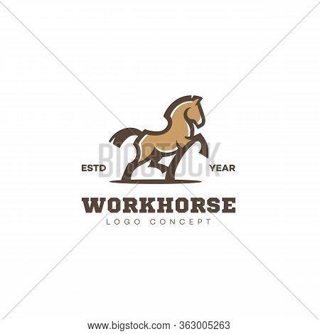 Horse Logo, Label Design Template. Vector Illustration.
