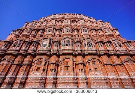 Hawa Mahal Palace Or The Palace Of Winds, Jaipur, Rajasthan, India