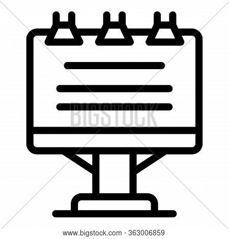 Text On Flipchart Icon. Outline Text On Flipchart Vector Icon For Web Design Isolated On White Backg