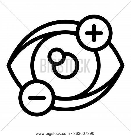 Dioptre Eyesight Icon. Outline Dioptre Eyesight Vector Icon For Web Design Isolated On White Backgro
