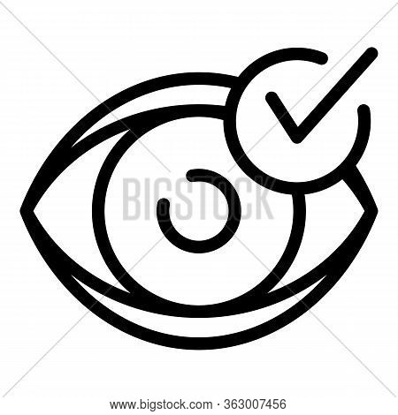 Diagnosis Eyesight Icon. Outline Diagnosis Eyesight Vector Icon For Web Design Isolated On White Bac
