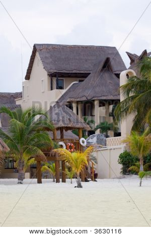 Property at a sandy beach.