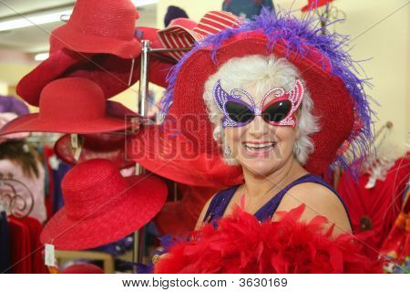 Silly Senior Woman