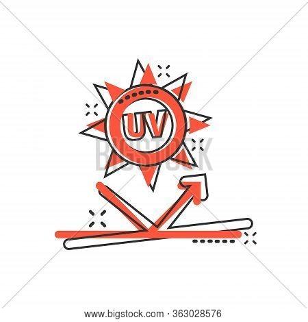 EPS Vector - Uv radiation icon, ultraviolet with sun logo symbol. vector  illustration. Stock Clipart Illustration gg105843125 - GoGraph