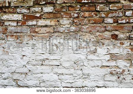 Bela Red Old Brick Wall. Brick Background
