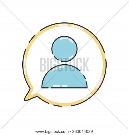 Public Charity Vector Illustration Isolated On White Background. People Icon In Speech Babble. Volun