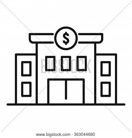 Millionaire House Icon. Outline Millionaire House Vector Icon For Web Design Isolated On White Backg