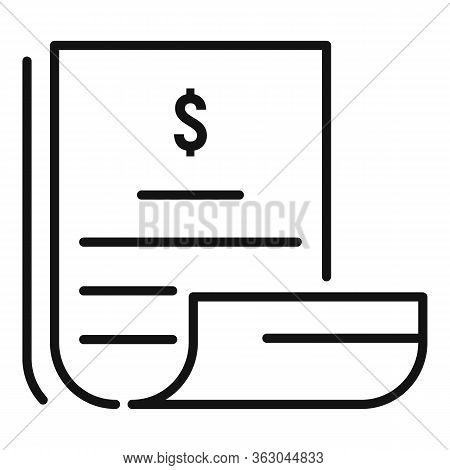 Millionaire Papers Icon. Outline Millionaire Papers Vector Icon For Web Design Isolated On White Bac