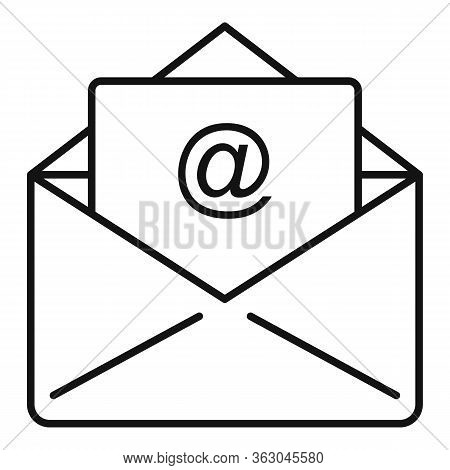 Campaign Email Icon. Outline Campaign Email Vector Icon For Web Design Isolated On White Background