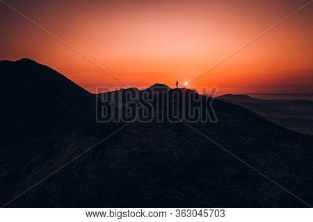 Rana Is A Significant Three-peak Mountain 457m. In The Western Part Of Ceske Stredohori. The Rana Na