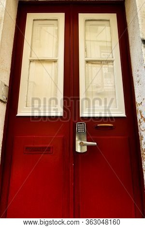 Tourist Accommodation Door With Numeric Key Access In Lisbon, Portugal