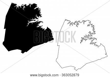 Hart County, Georgia (u.s. County, United States Of America,usa, U.s., Us) Map Vector Illustration,