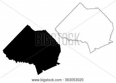 Jackson County, Georgia (u.s. County, United States Of America,usa, U.s., Us) Map Vector Illustratio