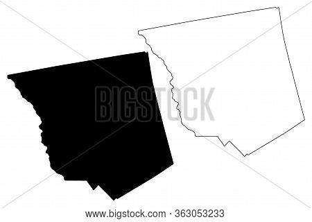 Jones County, Georgia (u.s. County, United States Of America,usa, U.s., Us) Map Vector Illustration,