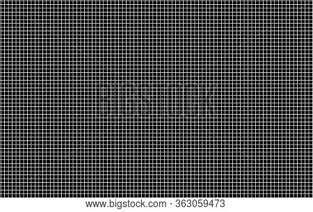 Abstract Background Grid Line White Color On Black Background Pattern Square Artwork Contemporary Ar