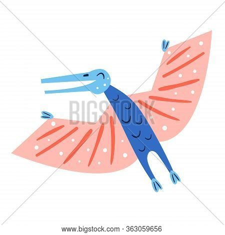 Little Cute Blue Dinosaur. Prehistoric Animals. Jurassic World. Paleontology. Reptile. Archeology. F