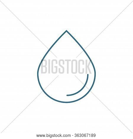 Water Drop Icon Isolated On White Background. Vector Illustration