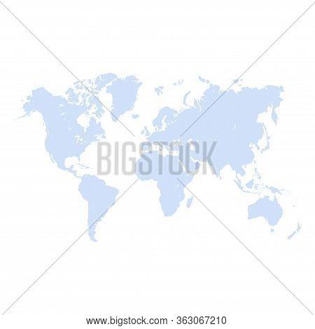 World Map Icon Isolated On White Background. Vector Illustration