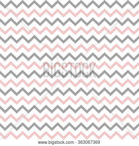 Chevron Seamless Pattern. Zigzag Background, Vector Illustration