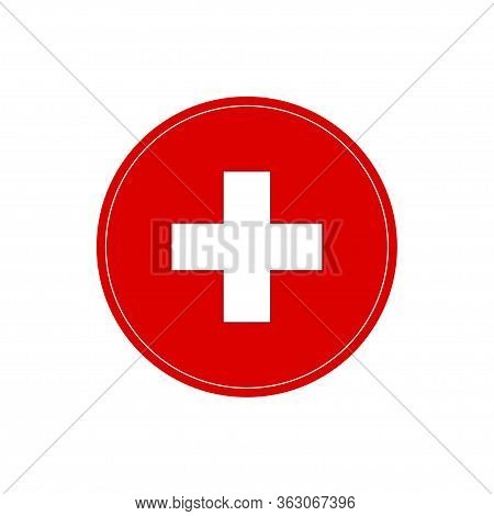 Health Care Cross Sign. Medical Symbol On A White Background, Vector Illustration